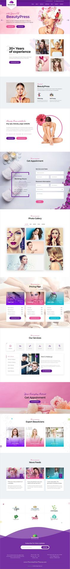 BeautyPress is clean and modern design 5in1 responsive bootstrap HTML template for beauty #spa, #salon and #wellness centers #website to live preview & download click on Visit