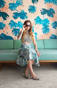 Retro vibes and beach chic styling
