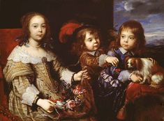 The Children Of The Duc de Bouillon by Pierre Mignard