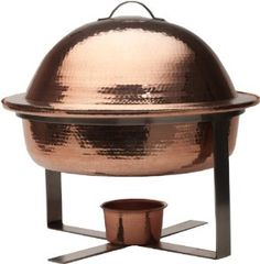Sertodo Byzantium Chafer, 6 Quart Round, Hammered Copper >> Discover this special product, click the image : Specialty Cookware Kitchen Aid Appliances, Stainless Steel Appliances, Black Appliances, Kitchen Utensils, Specialty Cookware, Pure Copper, Hammered Copper, Red Leather Couches, Kitchen
