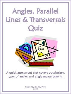 Lines - Angles Formed by Parallel Lines Thanksgiving Riddle Worksheet ...