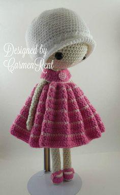 March and her Puppy Amigurumi Doll Crochet Pattern PDF