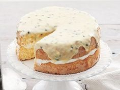 22 Sponge Cakes - Passionfruit Sponge Cake recipe