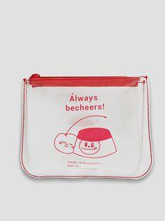 [비치얼스] 푸린 레드 투명파우치 - onemorebag Pouch Bag, Tote Bag, New Cosmetics, Web Design, Graphic Design, Kpop Merch, Brand Identity Design, Cool Posters, Pastel Colors