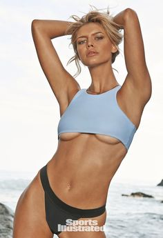 Pin for Later: Take a Time-Out With Sports Illustrated and Pretend You're Wearing These Swimsuits For a Sec High Neck Kelly Rohrbach photographed by Yu Tsai. Swimsuit by Mandalynn.