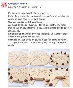 Croissants au nutella via Chocolate World