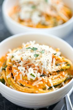 Creamy Roasted Red Pepper Zucchini Noodles | 30 Things You Need To Cook In September