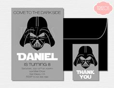 Free Star Wars Birthday Invitation Templates ~ Free printable star wars darth vader birthday invitation