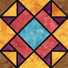 Stained Glass Aunt Nancy's Favorite Quilt Block Pattern