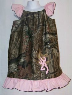 Camo & Pink Custom Ruffle Dress / Pretty / Duck Dynasty / Infant / Baby / Toddler / Girl / Kid/ Christmas / Fall / Custom Boutique Clothing