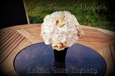 Fabric Rose Topiary