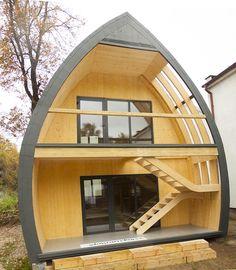 Tiny Cabins, Tiny House Cabin, Tiny House Design, Modern House Design, Arch House, Dome House, A Frame Cabin, A Frame House, Igloo House