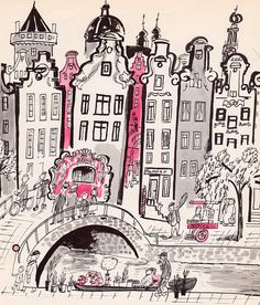 vintage book illustration: The Busiest Boy in Holland