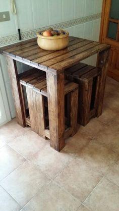 Mesa de madera de palet