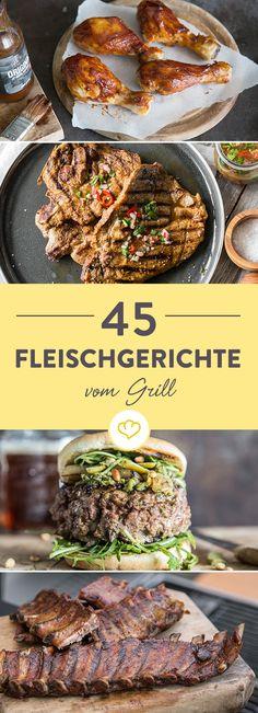 Komm mit in unseren Grill-Garten und lass dich von den 45 köstlichen Fleischgerichten inspirieren. Die Auswahl ist riesig und es gibt einiges zu entdecken.