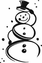 Cute Snowman   Wall Decals