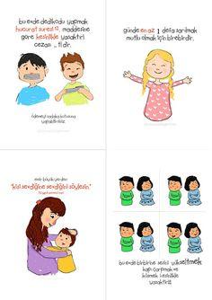 bitutamani: Güzel evlere güzel kurallar! ;) Islam For Kids, Islamic Teachings, Positive Discipline, Preschool Worksheets, Kids Health, Kids Education, Funny Babies, Ramadan, Kids Learning