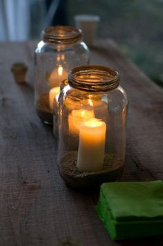 ThanksJars for holding Candles Centerpieces: Rustic/Vintage/Romantic/Outdoor : wedding rustic vintage outdoor jars candle holder glass barn centerpieces flowers green brown romance 403256 3227617649749 1245782692 3500802 1620041828 N awesome pin Rustic Wedding Signs, Rustic Wedding Centerpieces, Candle Centerpieces, Reception Decorations, Our Wedding, Centerpiece Flowers, Wedding Shit, Wedding Dinner, Centrepieces