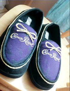DIY Crown Royal slippers for my dads birthday! #crownroyal