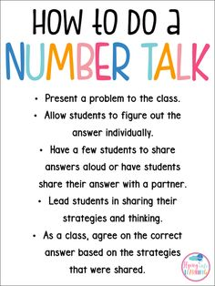 Number Talks in the classroom help build number sense in your students.Number Talks in the classroom help build number sense in your students. Learn how to do one with this post. Math Coach, 2 Kind, Second Grade Math, Third Grade, Grade 1 Maths, First Grade Rules, Sixth Grade, Math Groups, Math School