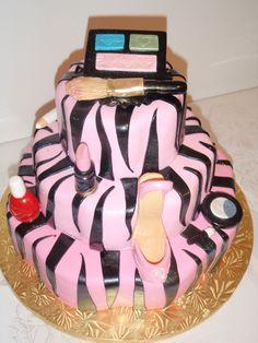 Sprinkle Splash: Zebra Make-up Cake.    We service the Greater New York Area call us today 800-764-6106 or info@SprinkleSplash.com