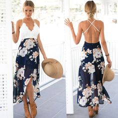 95e3118d2e9 Hot Women Sexy Off Shoulder backless Beach Evening Party Cocktail Bodycon  Dress  fashion  clothing