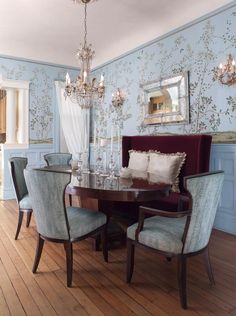 Donna's Blog: Dress up a dining room with wall covering | Fromental