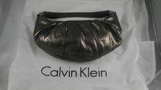 Calvin Klein Purse Handbag Pocketbook Leather/Copper 11in x 5in MSRP $225.00