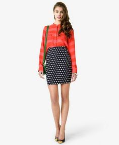 #Forever21                #Skirt                    #Essential #Polka #Pencil #Skirt #FOREVER #2030187385                         Essential Polka Dot Pencil Skirt | FOREVER 21 - 2030187385                                              http://www.seapai.com/product.aspx?PID=109225