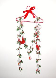 Vintage Garland Musical Instruments and Holly by ChristmasVintage, $14.50