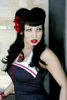 with hair style pinup fashion rockabilly look with 2617