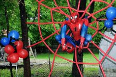 Silver / Popular IIem / Spaiderman And Balloon Spider Spiderman Balloon, Spiderman Theme, Ballon Arch Diy, Balloon Arch, Its A Boy Balloons, Mylar Balloons, Fête Spider Man, Party Hacks, Party Ideas