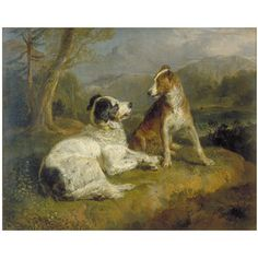 landseer paintings   The Twa Dogs   Landseer, Edwin Henry (Sir, RA)   V&A Search the ...