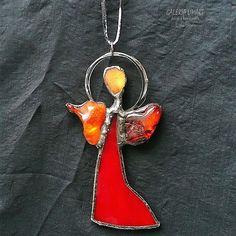 Cute angel, maybe for someone nice :) Funny pendant or Christmas Tree ornament :) // Aniołek uroczy, może dla kogoś miłego :) Zabawny wisiorek lub ozdoba choinkowa