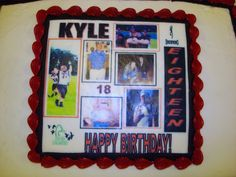 Picture Collage Birthday Cake