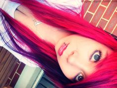 Bright eyes.. Oh, and bright hair. Would love a room in this colour.