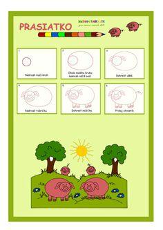 Ako nakresliť prasiatko - pre deti