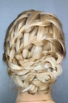 Updo Hairstyle With Ladder Braids ❤  #lovehairstyles #hair #hairstyles #haircuts