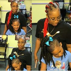 @_slaylee when mother and daughter are a dream team  #childrenhairstyles  #fauxlocs #locs #braids #twists #cornrows #boxbraidscolors #purplehair #purplehairdontcare #redhair #greyhair #sunglasses #curls #dreads #blackisbeautiful #afrohair #ropes #turquoisehair #love #iversons #headwrap #beautiful #swag #bestoftheday #goddessfauxlocs #Protectivestyles #weave #crotchet #sewin