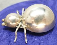 Vintage Bug Mexico TC-107 925 STERLING SILVER Pin / Brooch Lady Bug 9gr