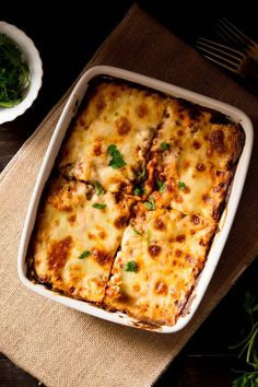 A comforting and easy lasagne recipe made with a mushroom, lentil ragu, fresh pasta and a fontina bechamel sauce. (step by step photos)