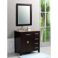 Have to have it. Virtu USA Palmero 36-in. Espresso Single Bathroom Vanity Set LS-1099 $999.00