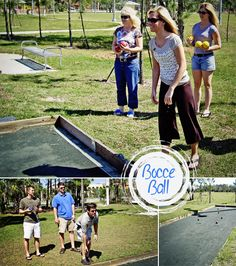 Bocce Ball Game Collage Image fort myers photographer