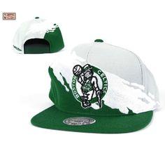 Mitchell   Ness Boston Celtics Paintbrush Snapback Hat c36043d62344