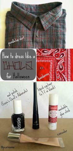 """Pearmama: How to dress like a """"Chola"""" for Halloween"""