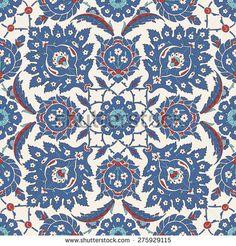 Традиционный арабский орнамент бесшовные.  Вектор.  Фон - Векторная иллюстрация
