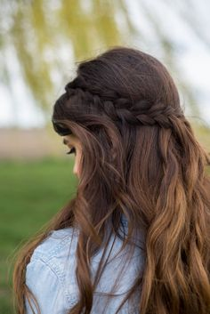 Braided hairstyle for Spring