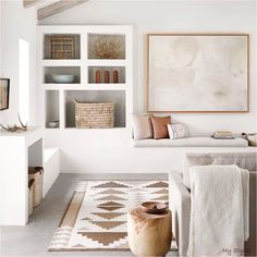 Home Decoration For Living Room Key: 6701991583 Room Rugs, Rugs In Living Room, Home And Living, Living Room Decor, Modern Living, Dining Rooms, Barn Living, Cozy Living, Simple Living