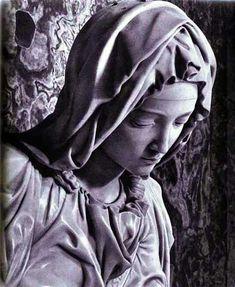 Arte - Escultura - Italia - MICHELANGELO - PIETA - MARIA - DETALHE - 1498 01