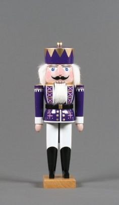 German Handmade Wooden Dregeno Purple King Nutcracker